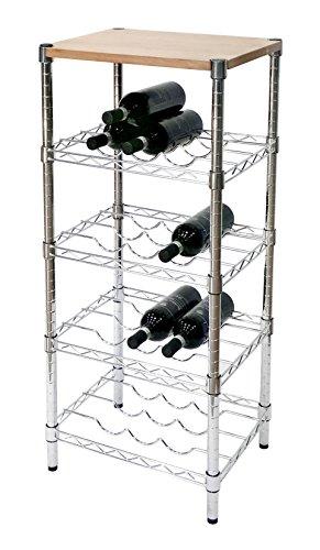 Archimede System, Cantinetta vino portabottiglie, Grigio (Cromato), 45 cm