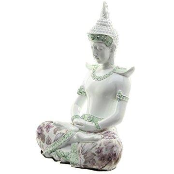 Decorativo floral iluminación-Figura decorativa de Buda, altura: 26cm, ancho: 18cm), profundidad 14cm 4