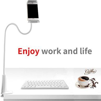 Yica-Schwanenhals-Handy-HalterungiPad-Tablets-Schwanenhals-Halterung-Halter-Einstellbare-Halter-Tablets-halterung360-Drehen-fr-4-106-Zoll-Kompatibel-mit-den-meisten-Mobiltelefonen-und-Tablets