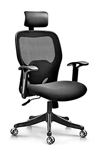 Visitor Chair Type/Mechanism: Synchro Knee Tilt/Synchro Tilt High Back Chair PU Adjustable Arm Nylon Base Gaslift Back & seat Net Tapestry