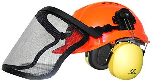 woodsafe® Naranja protección auditiva forestal Casco de lobo de mariposas cuello protección en 397casco de protección para los trabajadores forestales