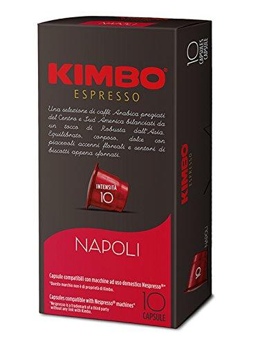 KIMBO Napoli - intensità 10 - capsule compatibili Nespresso* 10 Astucci da 10 capsule (tot 100 capsule)