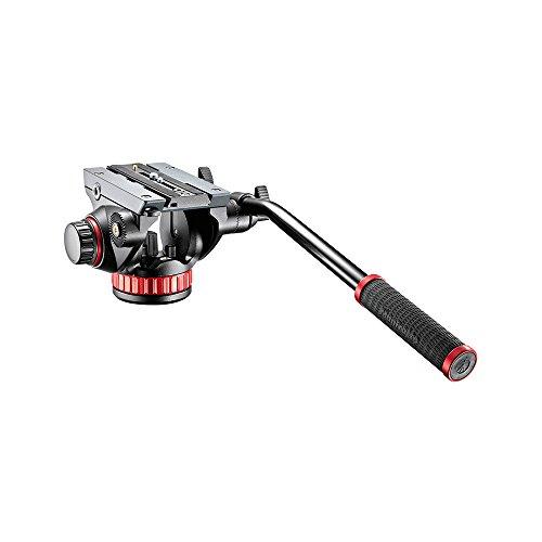 Manfrotto 502 PRO Fluid Videokopf mit Flachbasis (Counterbalance, Easy-Link, für professionelle Foto- /Videografen, Camcorder und DSLR bis 7 kg, MVH502AH)