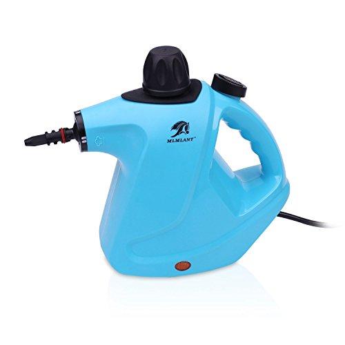 Pulitore a vapore pressurizzato palmare MLMLANT Serbatoio dell'acqua 450ml con set di accessori da 9...