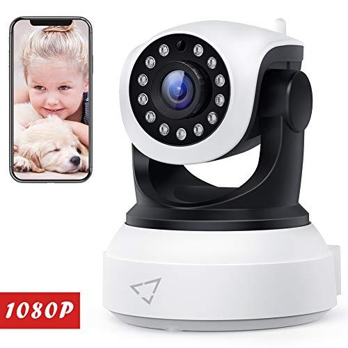 Victure Telecamera IP WiFi Interno 1080P,Videocamera di Sorveglianza Wireless HD con Sensore di Movimento, Visione Notturna,Audio Bidirezionale