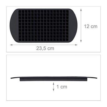 Relaxdays-Eiswrfelform-aus-Silikon-fr-1-cm-Eiswrfel-BPA-frei-Eiswrfelbehlter-HxBxT-1-x-235-x-12-cm-schwarz