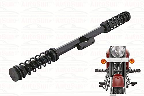 AutoSun Customised Single Rod Saftey Guard Black Spring Leg Guard for Royal Enfield