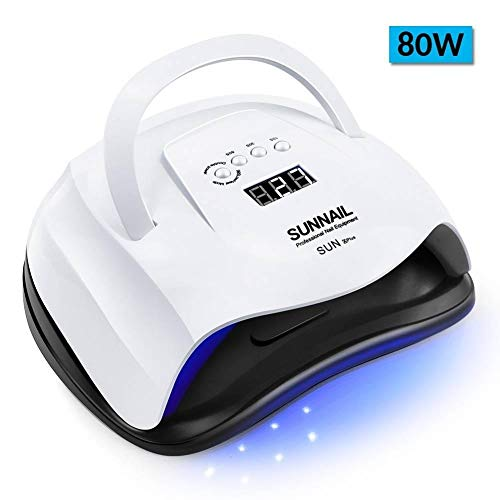 80W Lampada UV Asciugacapelli Lampada per unghie a LED per tutti i gel Lucida Luce solare Infrarossi...