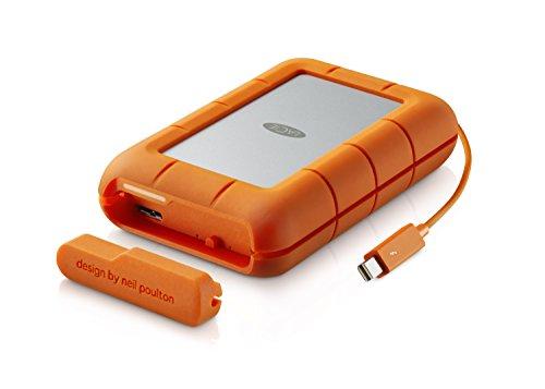 LaCie 301558 Rugged MINI Hard disk Esterno, Arancione/Grigio, 4 TB