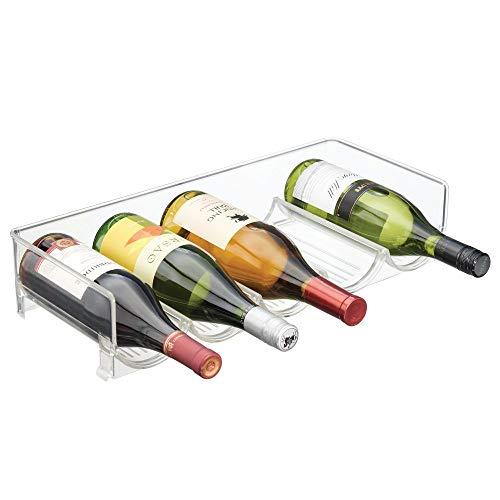 mDesign Cantinetta assemblabile ? Cantinetta vino per bottiglie d?acqua e bottiglie di vino ?...