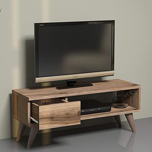 MINAR by Homemania, Maya, Mobile Tv, Noce, 90 x 30 x 33 cm
