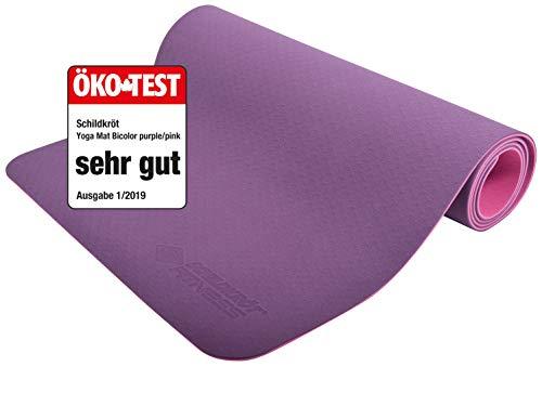 Schildkröt Fitness Yogamatte 4 mm BICOLOR, Violett-Rosa, in Tragetasche, 960069