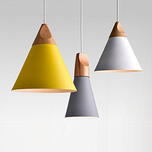 Lampadario Lampada a sospensione in legno e metallo lampade a sospensione industriale Deco Lampada...