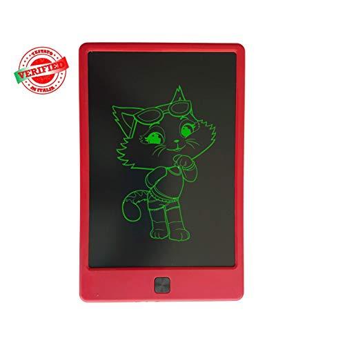Tablet KMK Writers 9' (ROSSO). Tablet LCD Per Scrivere,Bambini,Tablet Di Scrittura, Disegno,...