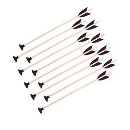 10 frecce in legno con ventosa, 40 cm, per frecce e arco
