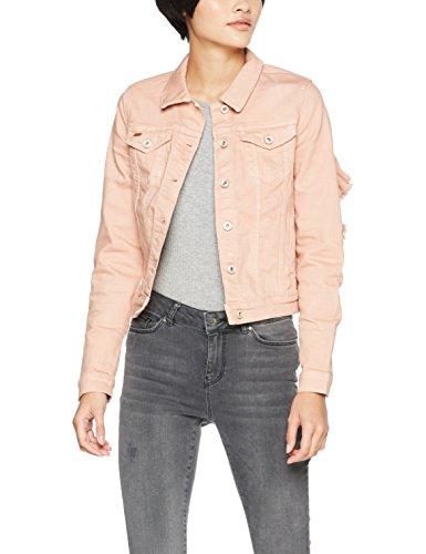 ONLY Damen Jeansjacke onlFLAIR LS Colour Frill Jacket PNT Rosa Misty...