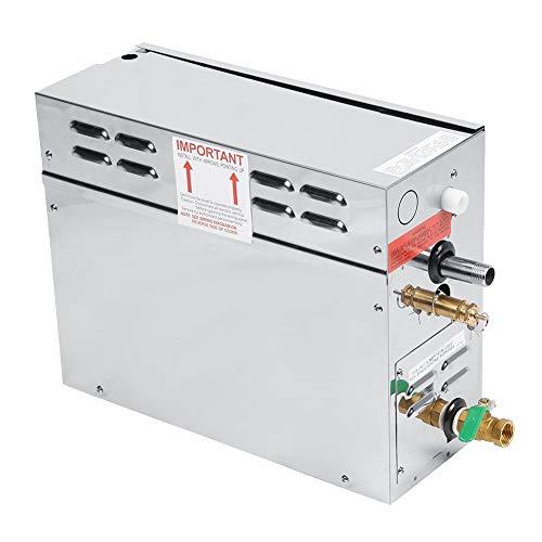 Generador de vapor, generador de vapor de baño de vapor eléctrico para sauna de acero inoxidable con controlador de pantalla de temperatura digital TC-135, resistente al agua(Estándar de la UE 220V)