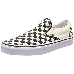 Vans U Classic Slip-on, Baskets mode mixte adulte - Blanc (Black & White/Checker White),37 EU
