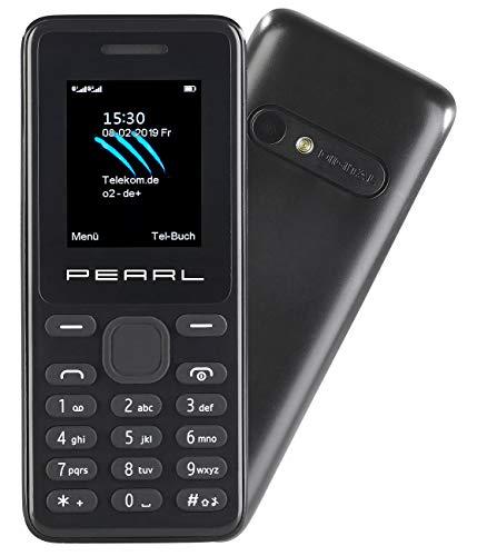 simvalley MOBILE Mobiltelefon: Dual-SIM-Handy mit Kamera, Farb-Display, Bluetooth, FM, vertragsfrei (Handy ohne Vertrag)