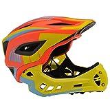 Kiddimoto Unisex-Youth KMHFF02M Full Face Cycle Helmet, Orange, M (53-58cm)