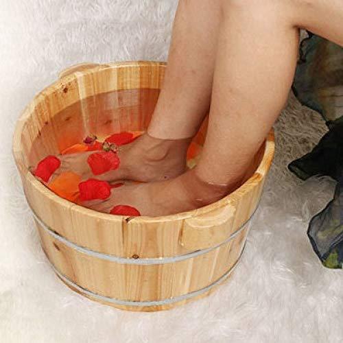Tonneau de bain de pieds Bain de pieds Bois de haute qualité Soins des pieds Bain de pieds Sauna Bassin de trempage des pieds Bassin de mass... 23