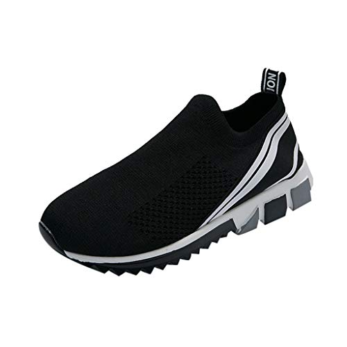 Scarpe Running Sneakers Ginli Unisex Uomo Donna Scarpe da Ginnastica Corsa Sportive Fitness Running Sneakers Basse Interior Casual all'Aperto Nero Blu Bianco 35-45