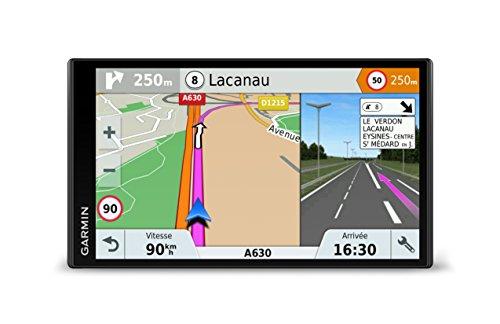 Garmin - DriveSmart 61 LMT-S - GPS Auto - 6,95 pouces - Cartes Europe 46 pays - Cartes, Trafic, Zones de Danger gratuits à vie - Appels mains libres - Wi-Fi intégré
