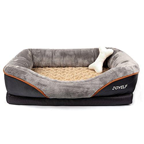 JOYELF memory foam ortopedico letto per cani, cane letto e divano con copertura rimovibile lavabile...