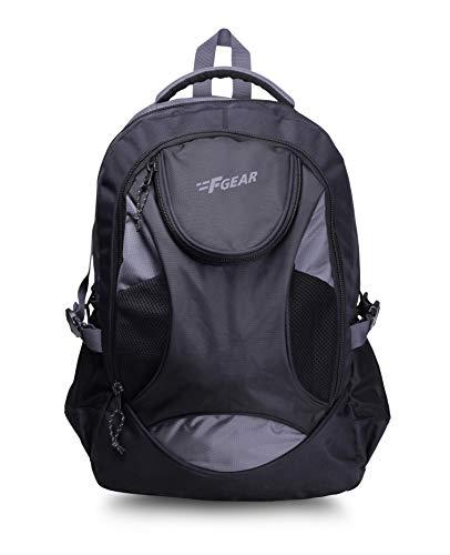 F Gear Sniper Lite V2 30 Liters Black Grey Laptop Backpack