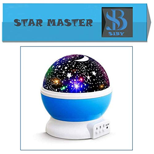 SIBY Plastic 360 Rotating Star Desk Night Lamp for Baby Room,1Pc(Multi Color)