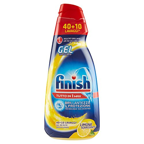 Finish All in 1 Max Powergel Detersivo Lavastoviglie, Limone, 1000 ml