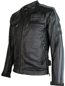 Herren Motorrad Lederjacke 1