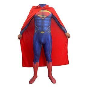 Cosplay Ropa DC Justice League Superman Anime Disfraz Cuerpo De Acero 2 Vestido Lycra Navidad Ropa De Halloween para…