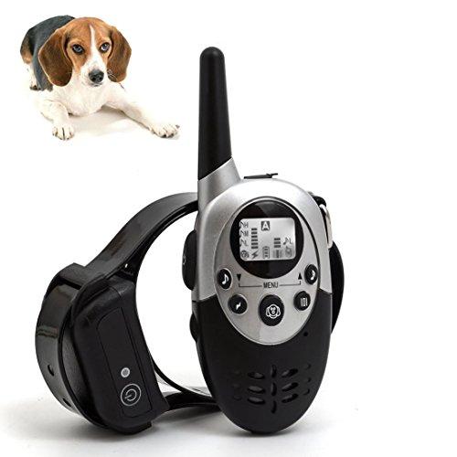 Silaite Perro Entrenador 1000 Metros Remoto Perro Entrenamiento Collar Impermeable Anti ladridos Collares Recargable para Mascotas Collar Entrenador con Tonos de Advertencia, vibración