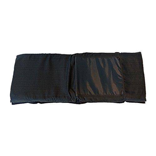Rebecca Mobili Chaise de Méditation Siege de Sol Métal Noir Polyester Pliable Balcon Maison (Cod. RE6198) 28