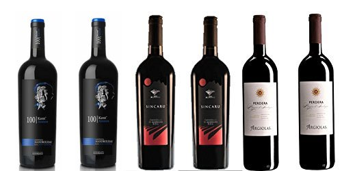 6 bottiglie di Vino rosso vari uvaggi DOC Sardegna cl.75 (2 Cannonau Sincaru DOC - 2 Monica Perdera DOC - 2 Mandrolisai DOC)