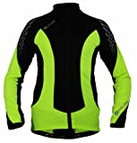 Polaris Kid's Fang Long Sleeve Cycling Jersey Fluo Yellow/Black Small