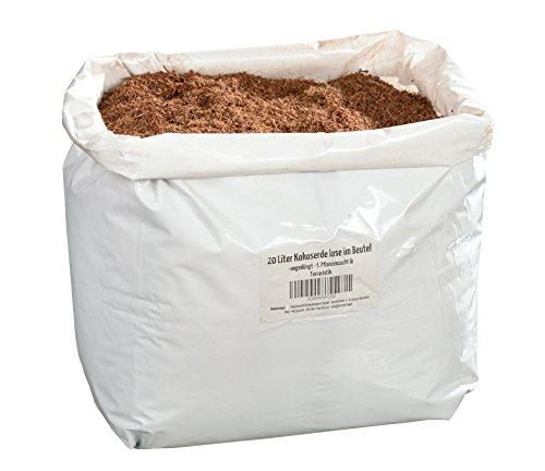20 litri di substrato naturale per terrario confezionatto in sacchetto - 100% pura fibra di cocco utilizzabile come lettiera in cocco fondo in substrato di cocco.