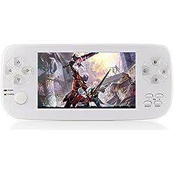 CXYP Handheld Spiele Konsolen, 4,3 Zoll 4GB Portable Video Game Errichtet in 600 Spiele mit Kamera (Weiß)