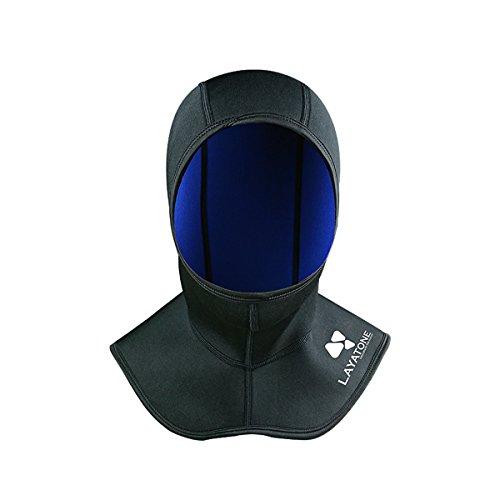 Layatone Capucha de Buce Hombres Mujeres Capucha de Neopreno de 2.5mm Neopreno Gorra de Buceo Capucha de Natacion Protección UV Gorra de Surf Gorra de Neopreno para Snorkeling Kayak Pesca