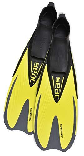 Seac Speed, Pinne Snorkeling per Donna, Uomo e Bambino a Scarpetta Chiusa, Giallo, 26/28