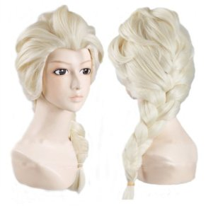 Generic Anime Cosplay Costume Wig for Disney Movies Frozen Snow Queen Elsa by LINER