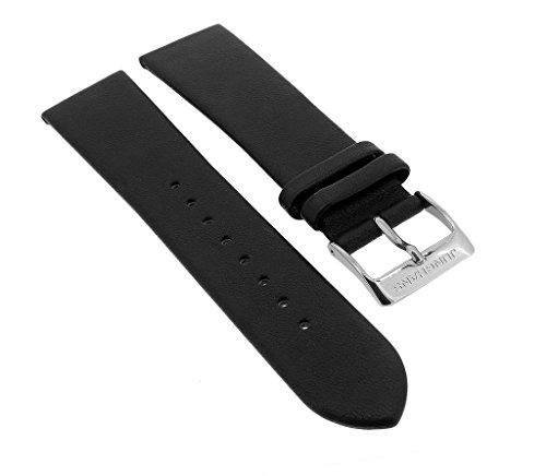Jung Hans Milano Solar | ricambio Band 20mm | Cinturino in pelle liscia nero per 014/4060