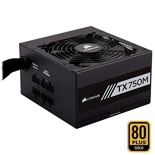 Corsair TX750M PC-Netzteil (Voll-Modulares Kabelmanagement, 80 Plus Gold, 750 Watt, EU)