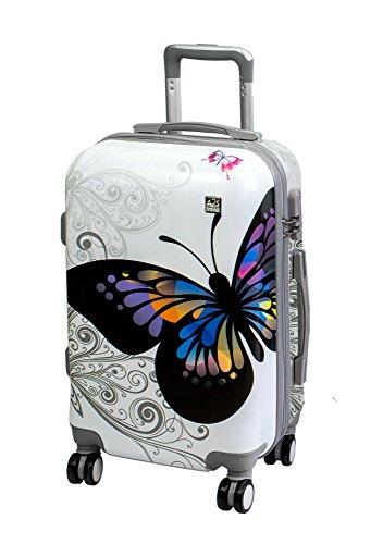 Valigia cabina A2S leggera e resistente valigia rigida con 8 ruote filanti borsa da trasporto...