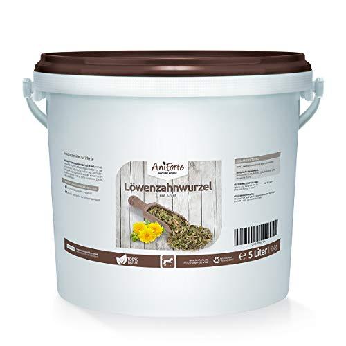 AniForte Löwenzahnwurzel mit Kraut geschnitten 5 Liter Löwenzahn- Naturprodukt für Pferde