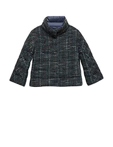 Oltre : Piumino Corto in Tweed Blu 50 (Italian Size)