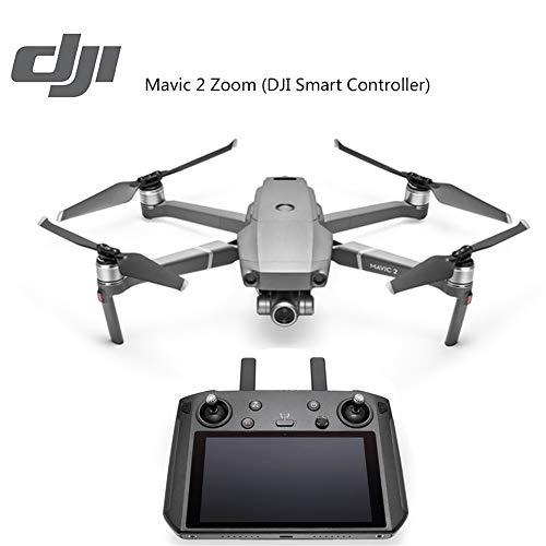 BQT DJI Drone Fotocamera Mavic 2 Zoom con Ultra-Bright 5,5'Display Telecomando, Tempo di Volo più Lungo e Caratteristiche più Intelligenti, 4K Full HD Video Aerei Giocattoli
