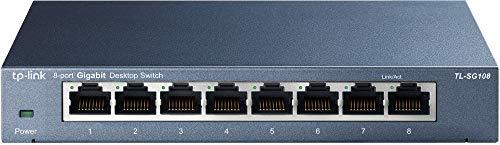 TP-Link TL-SG108 Switch 8 Porte Gigabit, 10/100/1000 Mbps, Plug & Play, Nessuna Configurazione...