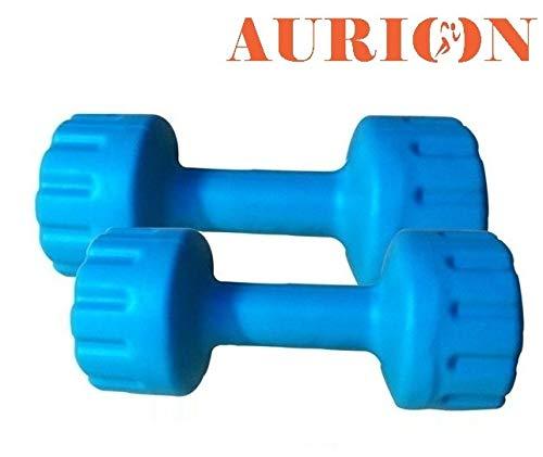 Aurion Set of 2 PVC Dumbbells Weights Fitness Home Gym Exercise Barbell (Pack of 2) Light Heavy for Women & Men's Dumbbell (8)